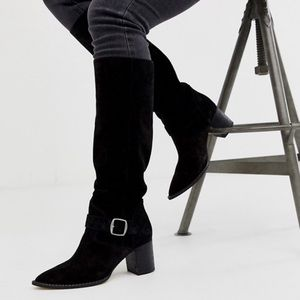 FREE PEOPLE DAHLIA SLOUCH CALF LENGTH BOOTS